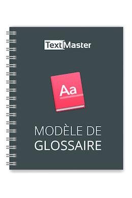 telecharger modele de glossaire textmaster